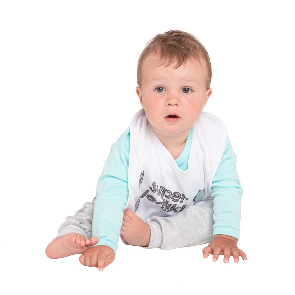 Detský podbradník New Baby Jsem Vaše splněné přání modrý