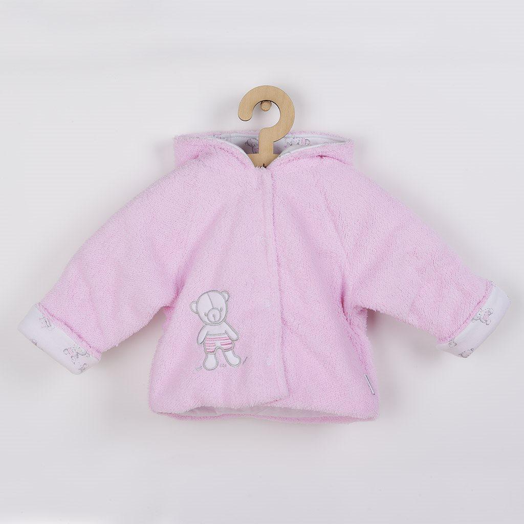 Zimný kabátik New Baby Nice Bear ružový-56 (0-3m)