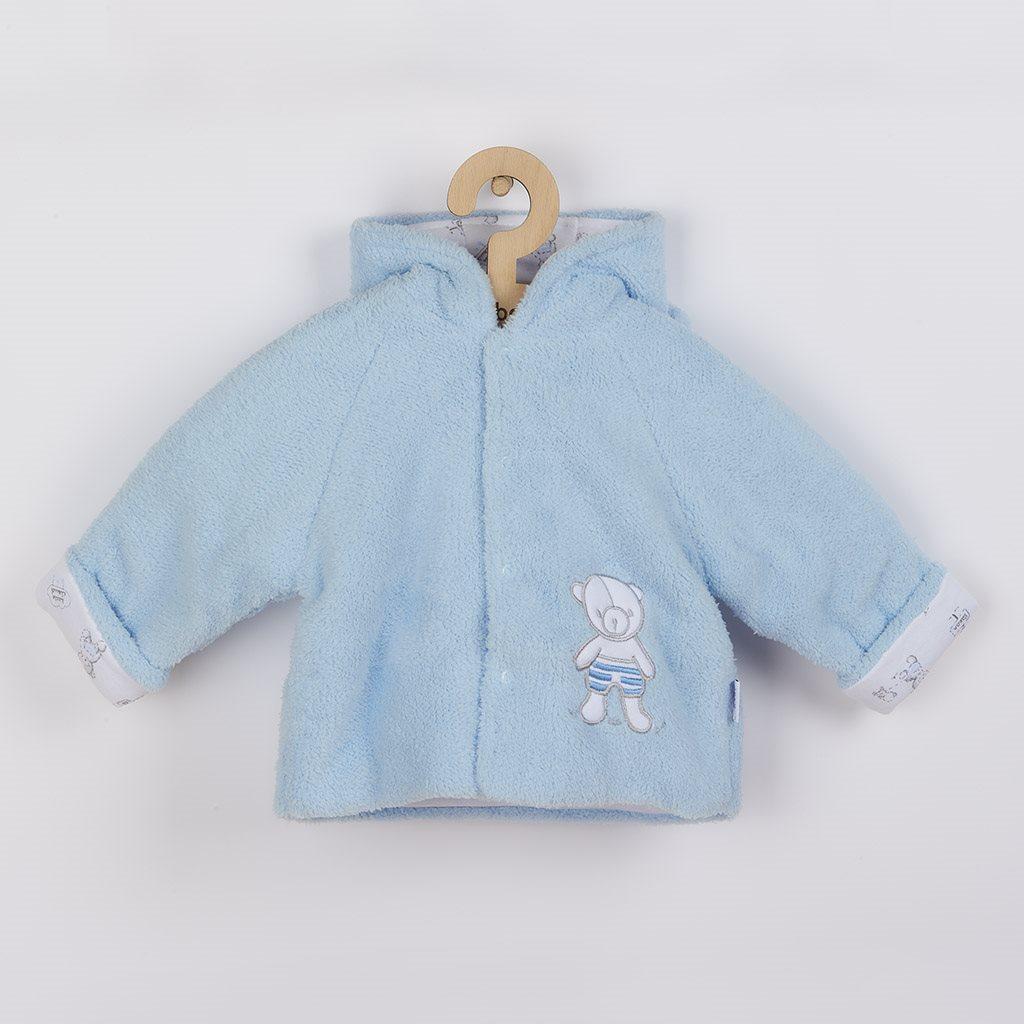 Zimný kabátik New Baby Nice Bear modrý-56 (0-3m)