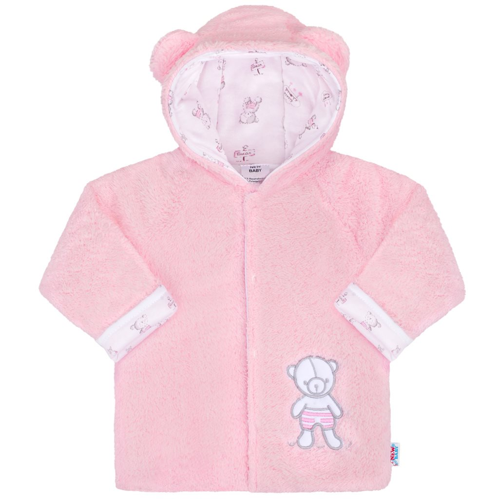 Zimný kabátik New Baby Nice Bear ružový-68 (4-6m)