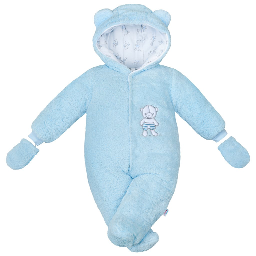 Zimná kombinézka New Baby Nice Bear modrá 56 (0-3m)