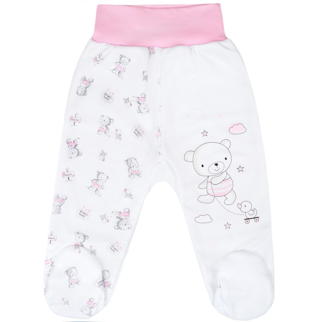 Dojčenské polodupačky New Baby Bears ružové