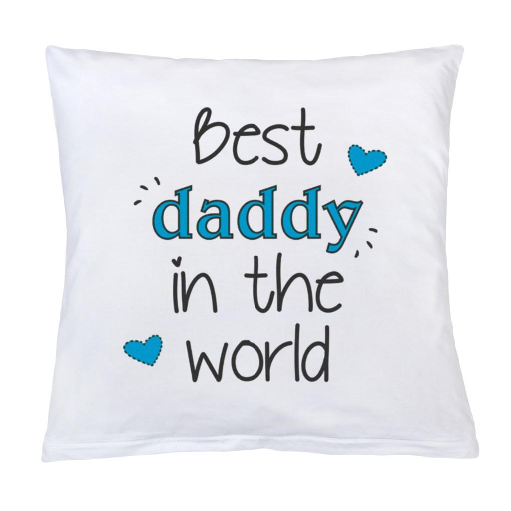 Vankúš s potlačou New Baby Best daddy 40x40 cm
