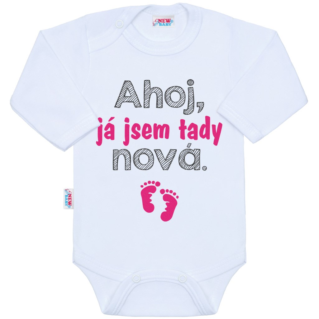 Body s potlačou New Baby Ahoj, já jsem tady nová.