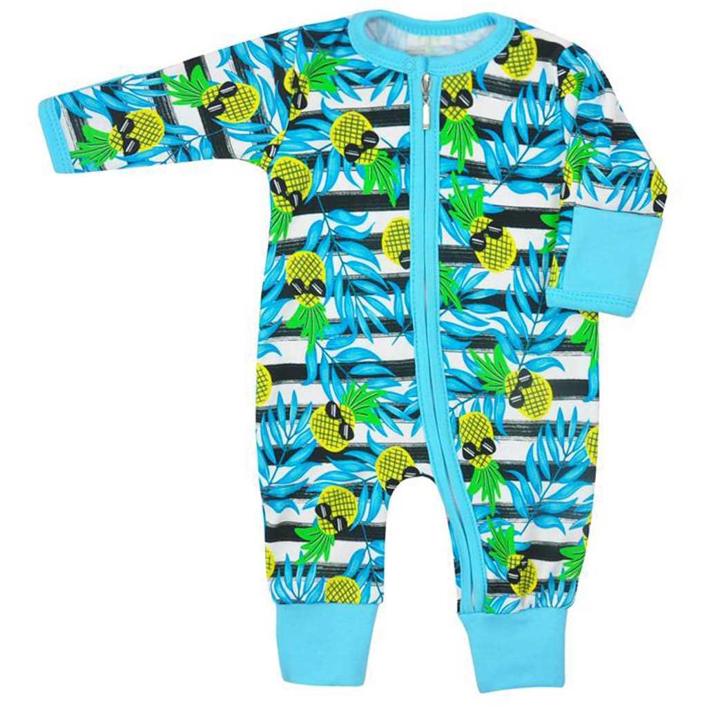 Dojčenský overal  Koala Tropical modrý