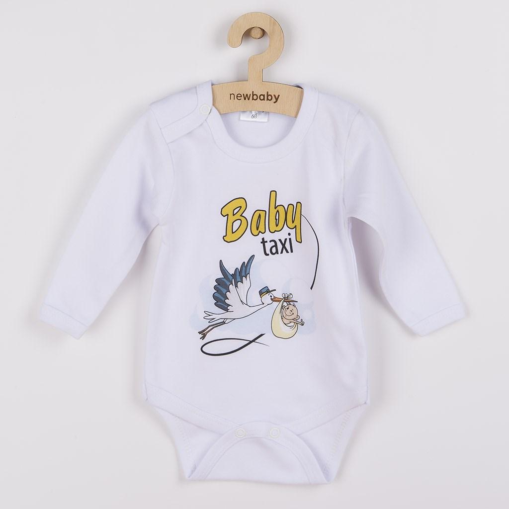 Body s potlačou New Baby Baby taxi-56 (0-3m)