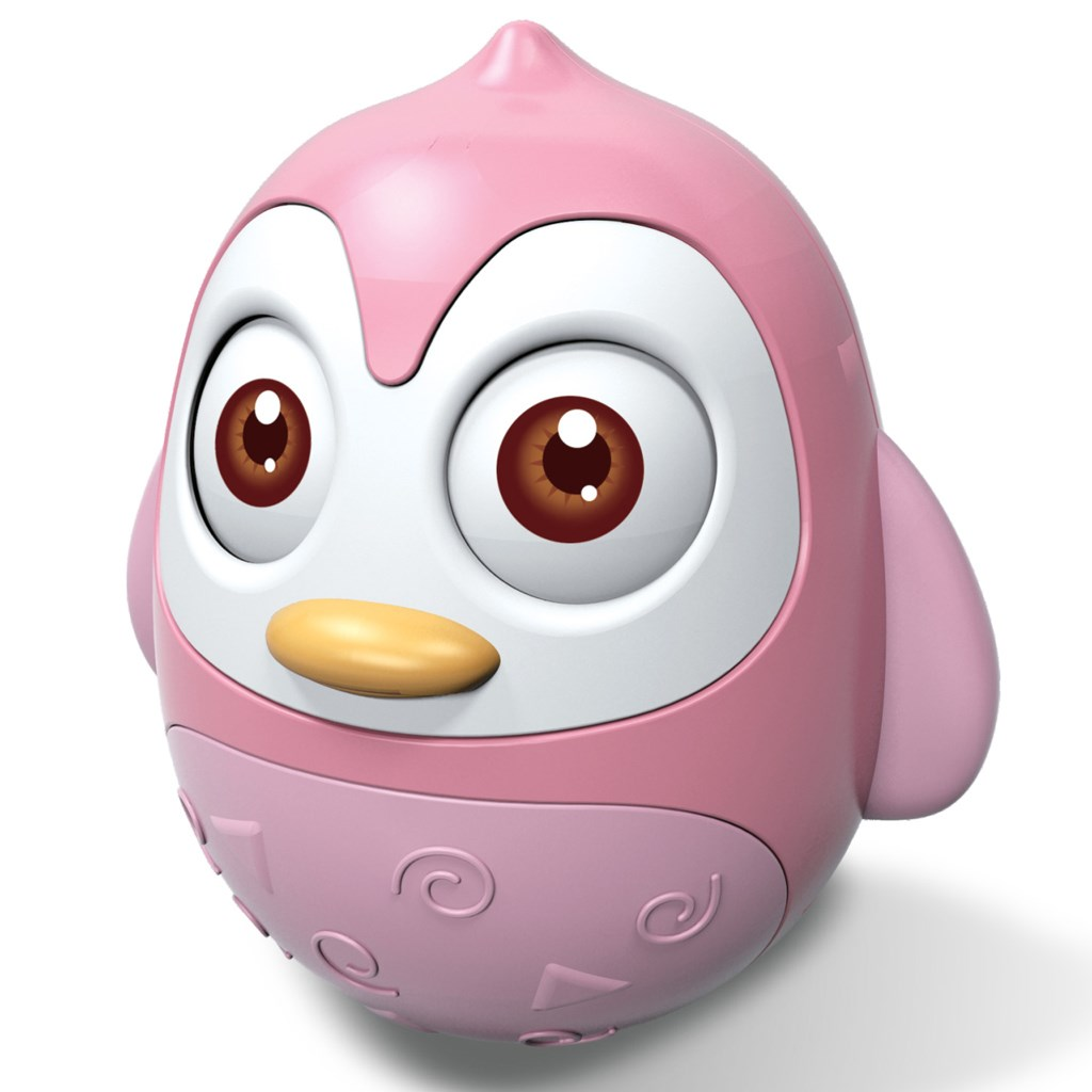 Kývajúca hračka Baby Mix tučniak pink