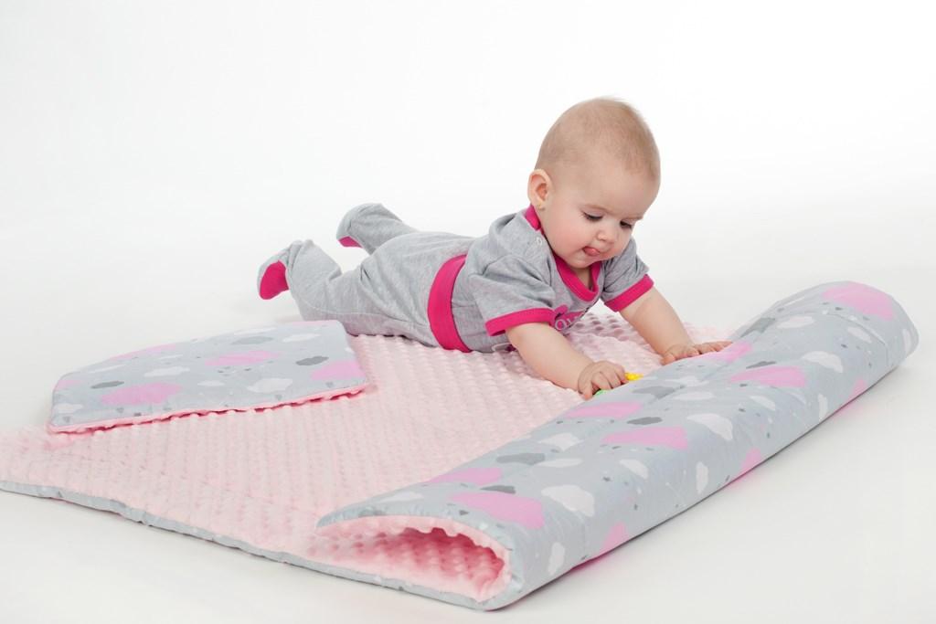 Obojstranný Set z Minky do kočíka New Baby ježko mätový