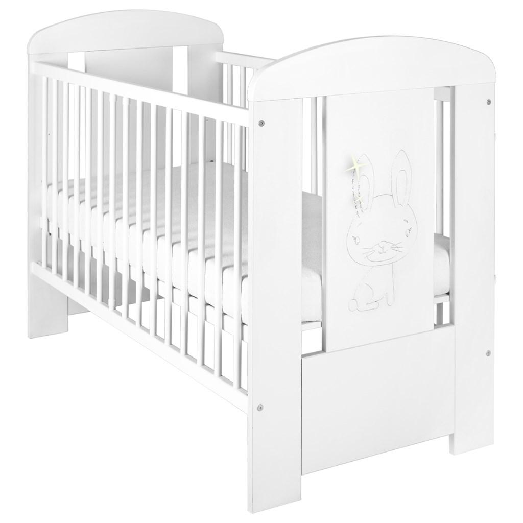 Detská postieľka New Baby Králiček so šuplíkom biela