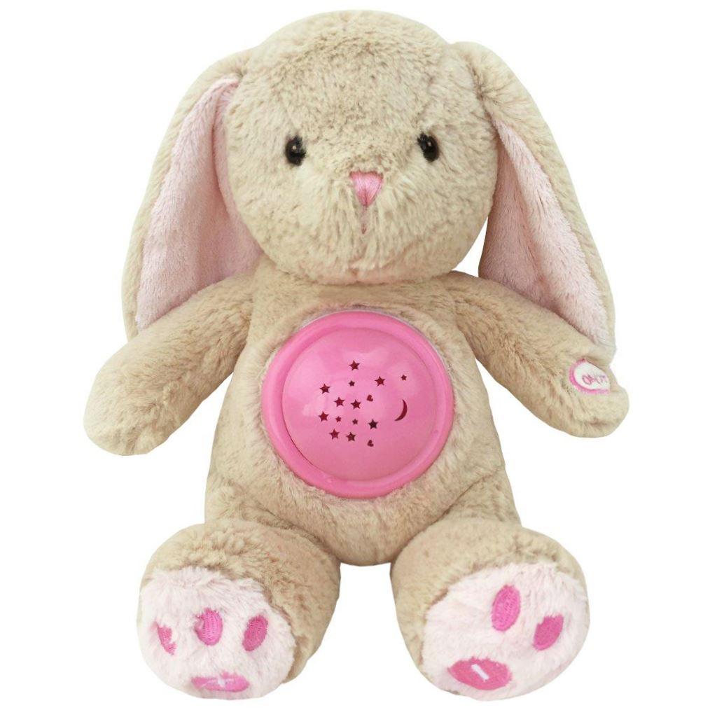 Plyšový zajačik s projektorom Baby Mix ružový