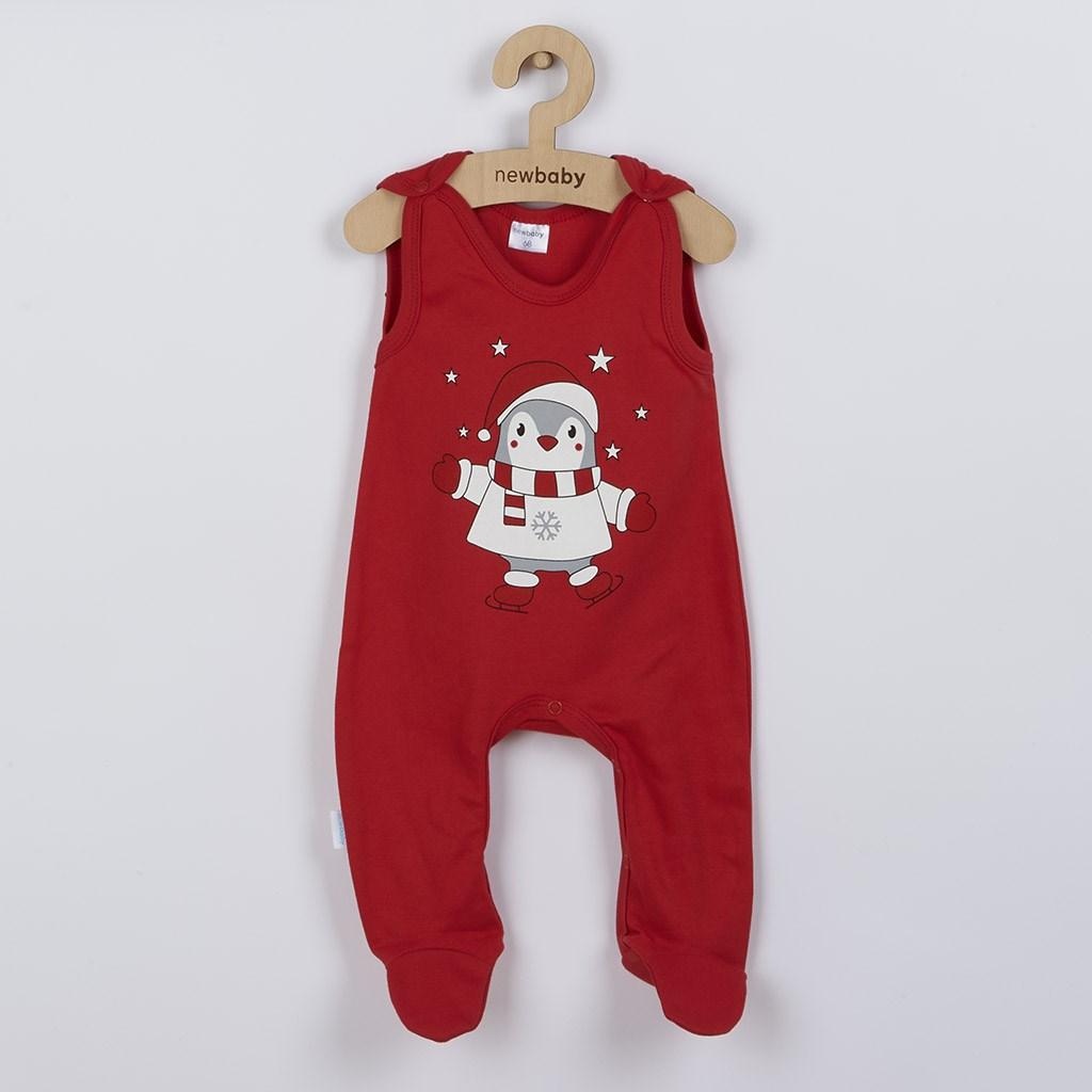 Dojčenské bavlnené dupačky New Baby Winter Penguin-80 (9-12m)