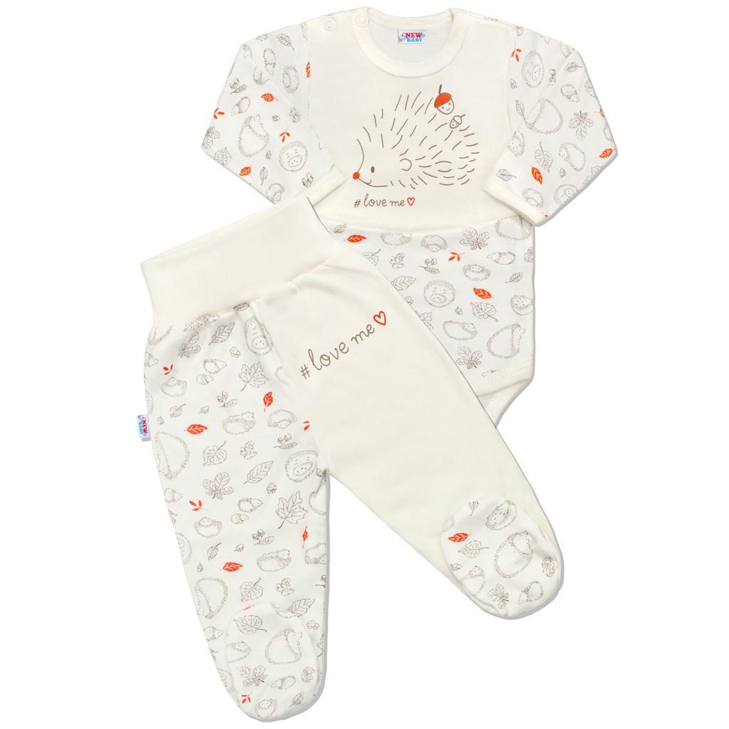 Dojčenská bavlnená súprava New Baby Hedgehog béžová-68 (4-6m)