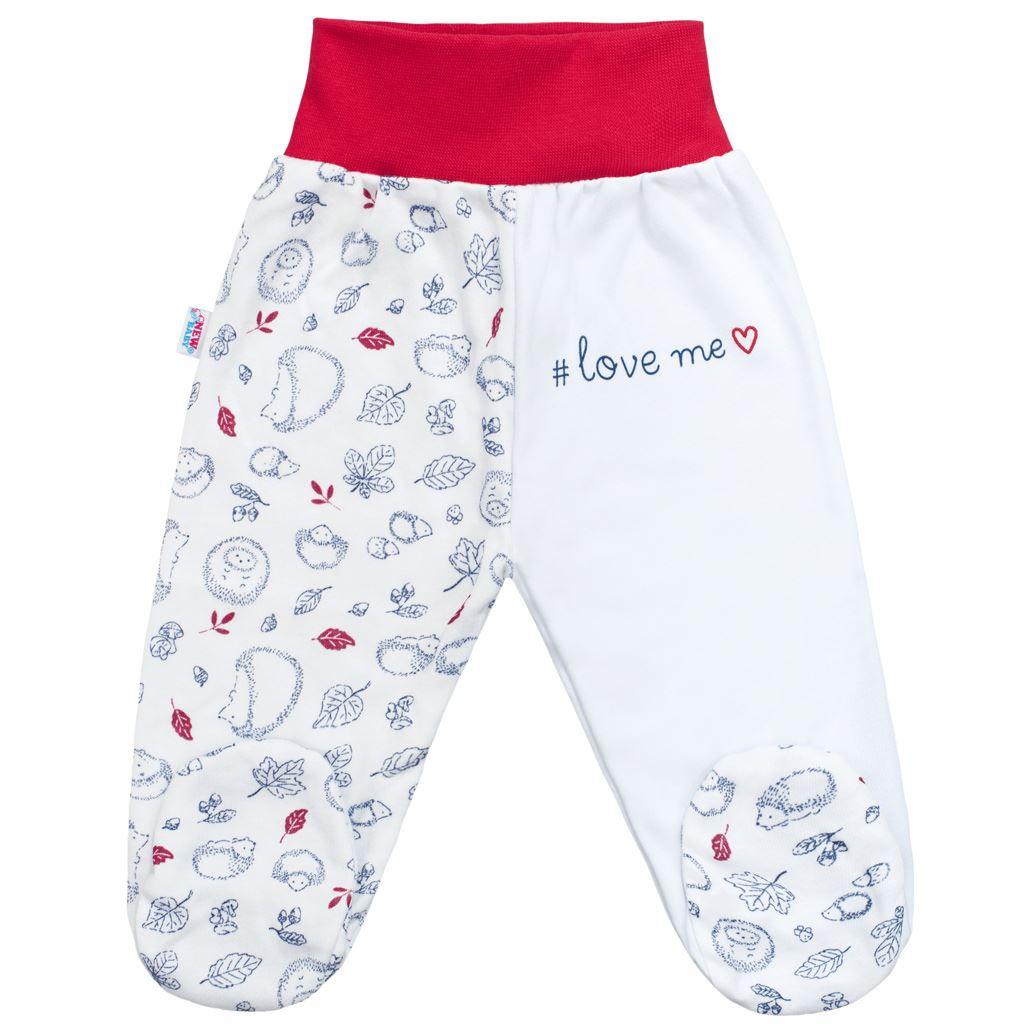 Dojčenské bavlnené polodupačky New Baby Hedgehog červené-56 (0-3m)