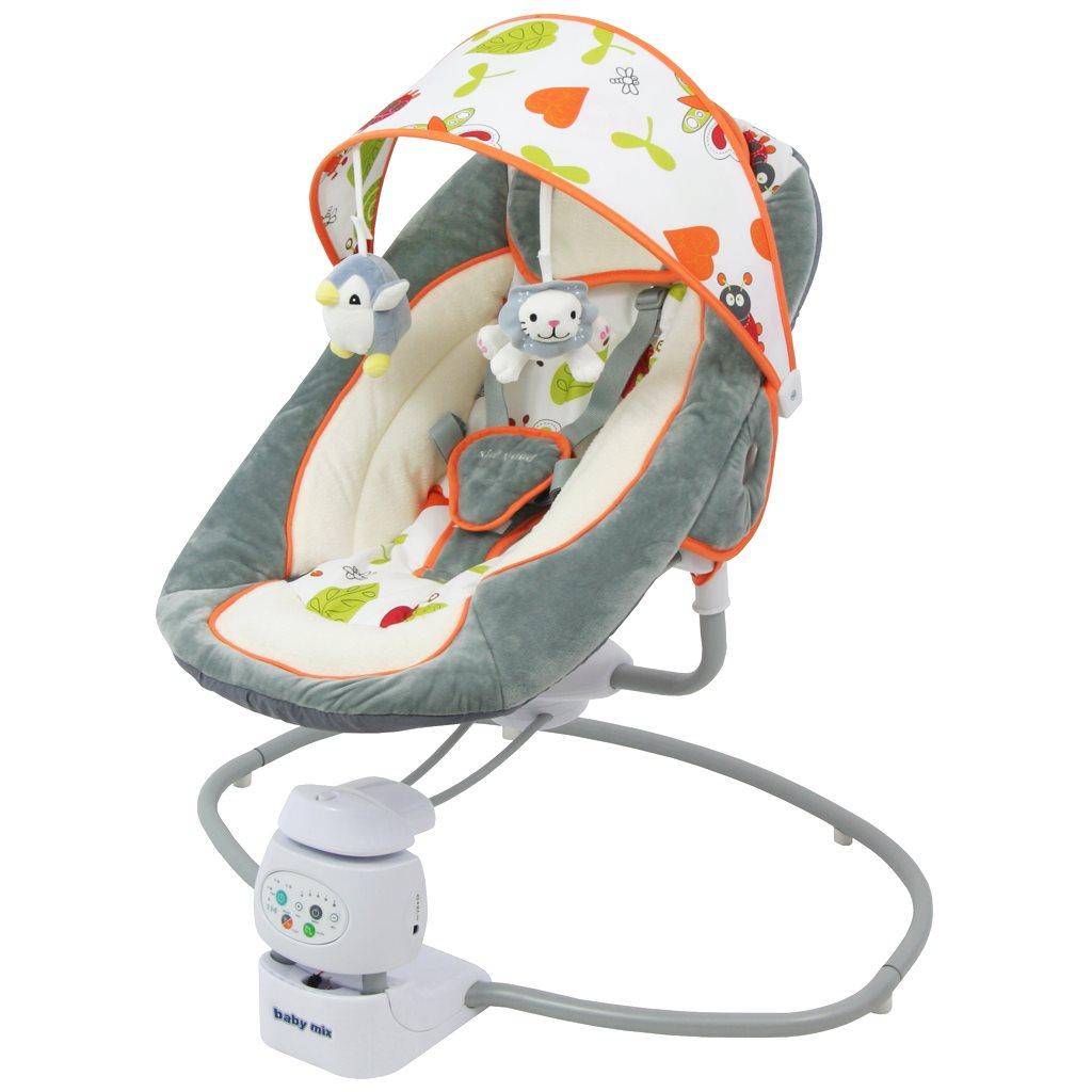 Detské otočné ležadlo 2v1 Baby Mix grey