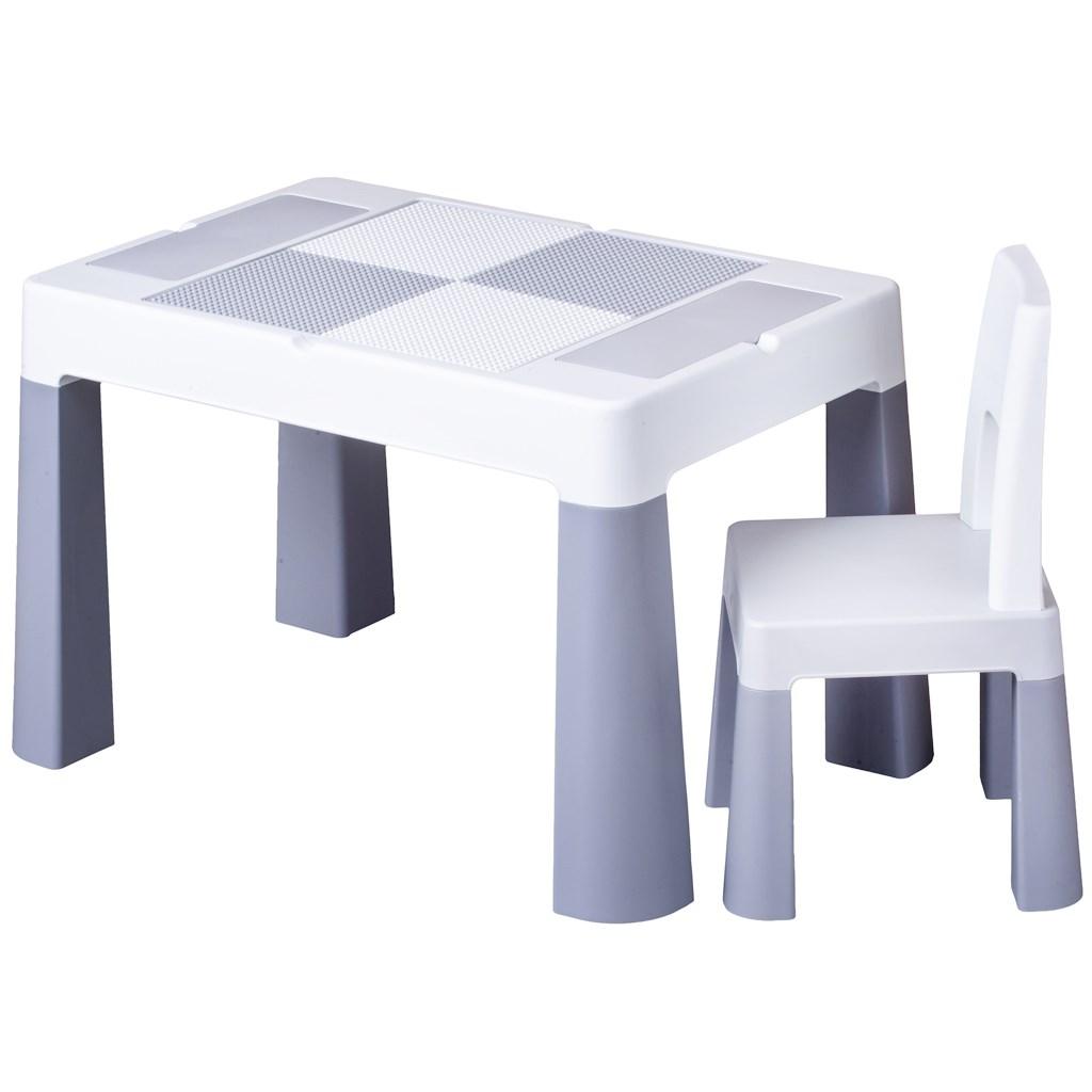 Detská sada stolček a stolička Multifun grey