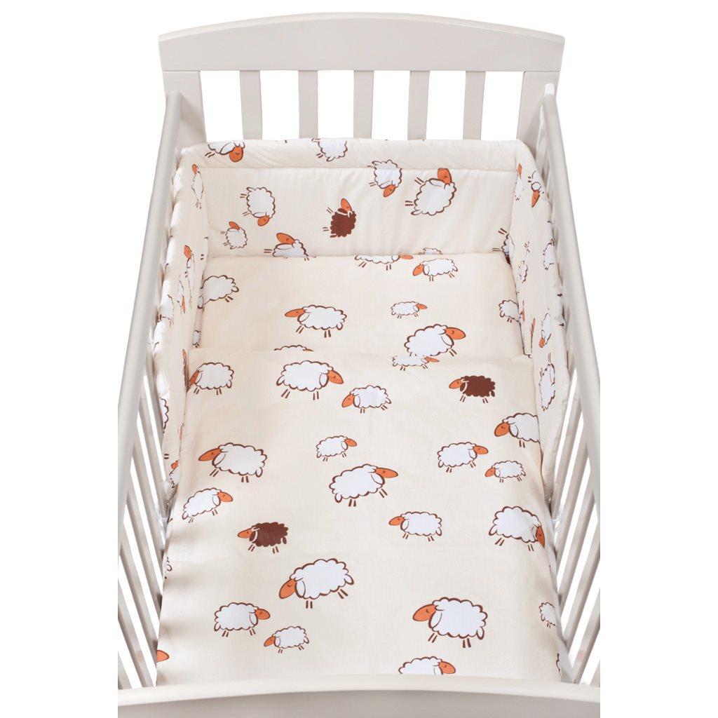 3-dielne posteľné obliečky New Baby 90/120 cm sheep béžové