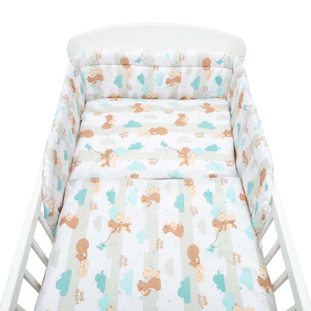 3-dielne posteľné obliečky New Baby 90/120 cm mama bear