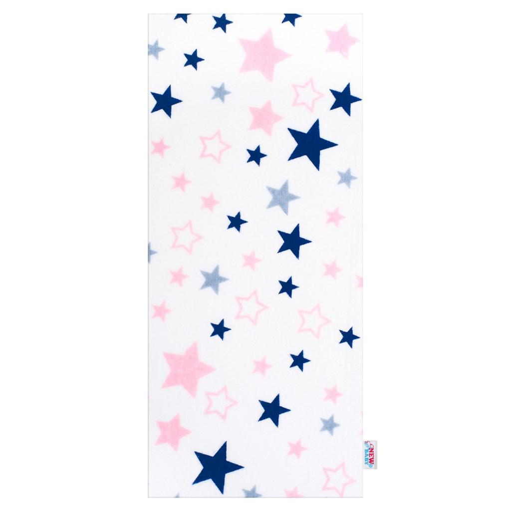 Flanelová plienka s potlačou New Baby biela hviezdy