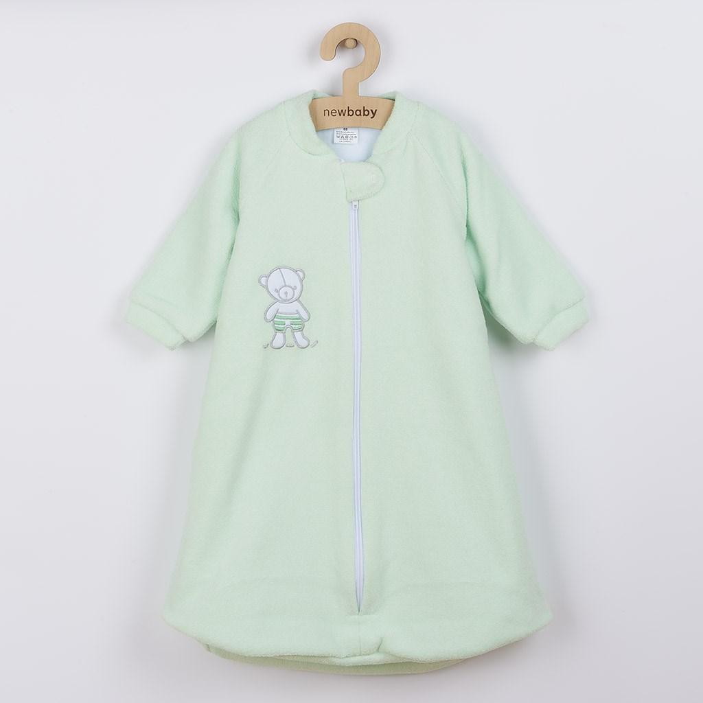 Dojčenský froté spací vak New Baby medvedík mätový-80 (9-12m)