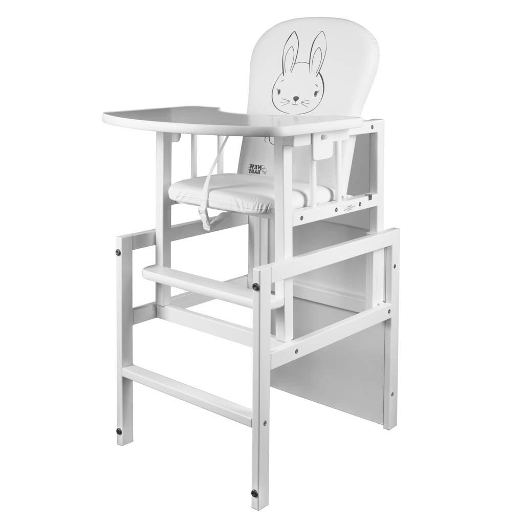 Borovicová stolička New Baby Králiček biela