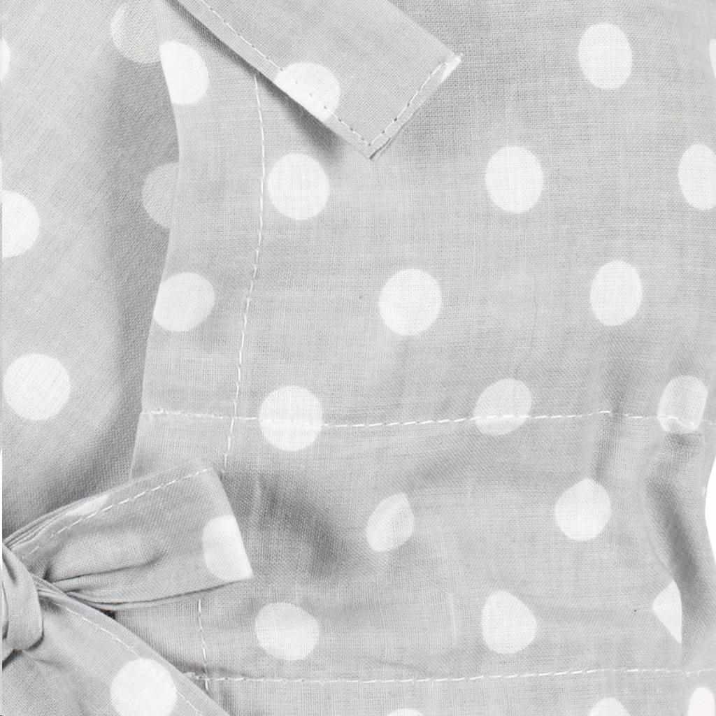 Klasická šnurovacia zavinovačka New Baby sivá s bodkami