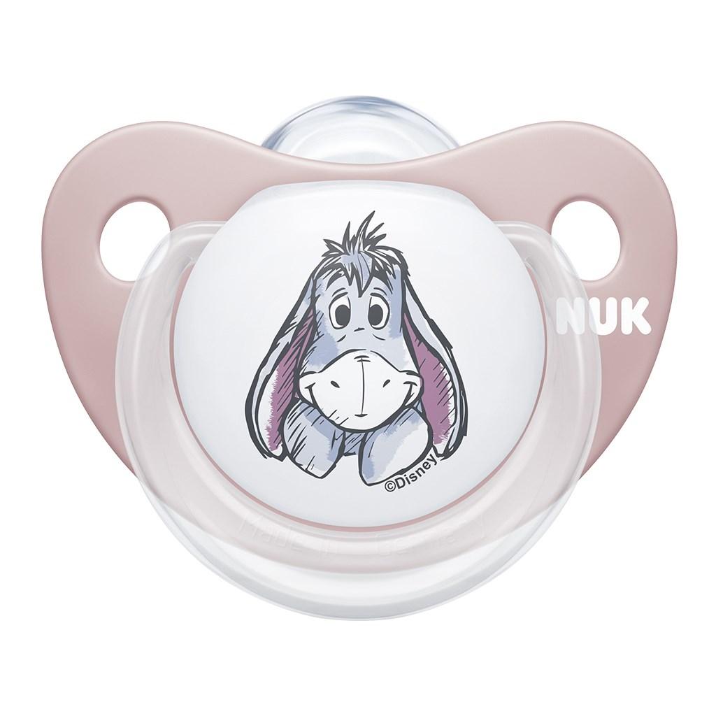 Dojčenský cumlík Trendline NUK Disney Medvedík Pú 6-18m marhuľové BOX-6-18 m