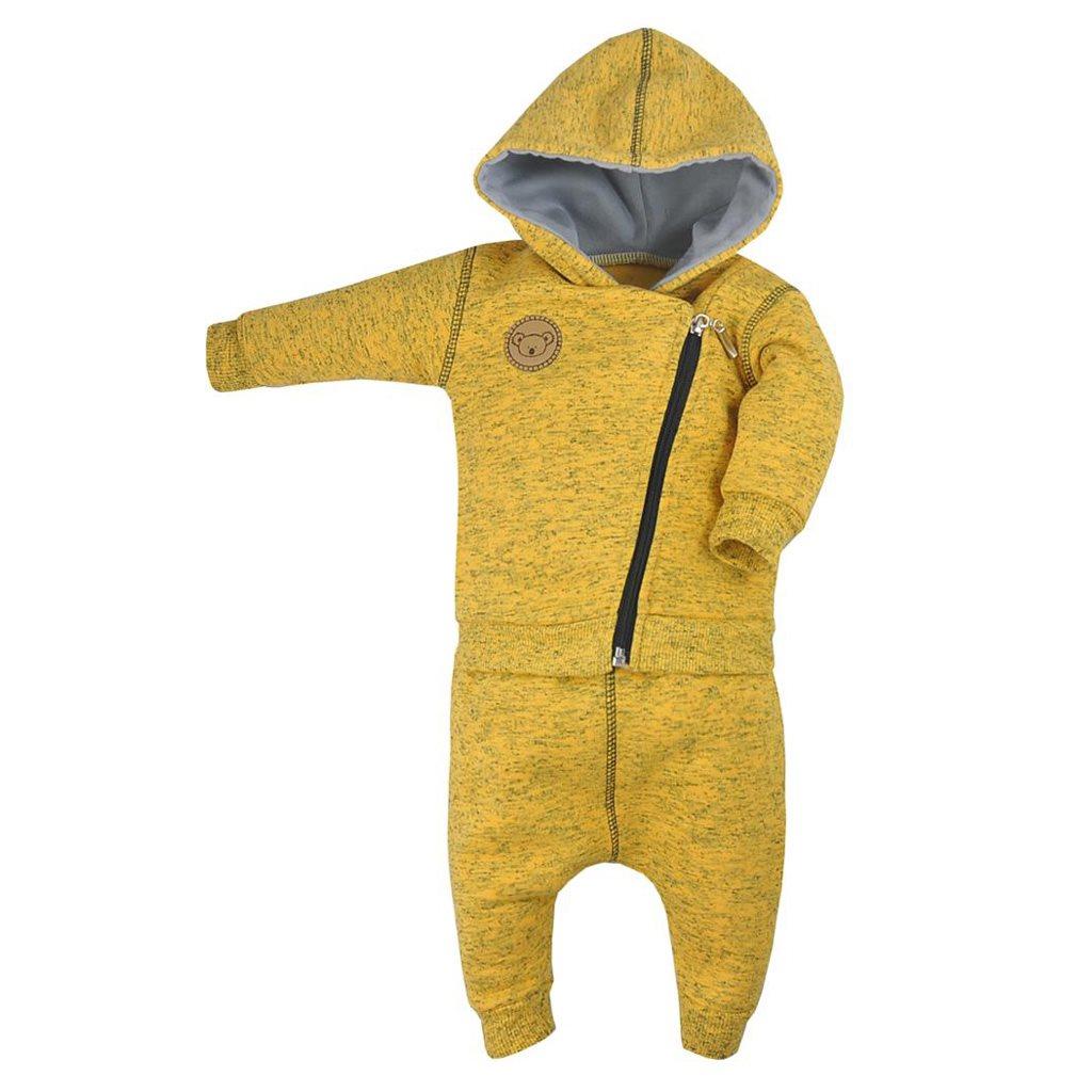 Dojčenské tepláčky a mikinka Koala Koala melírovaná žltá