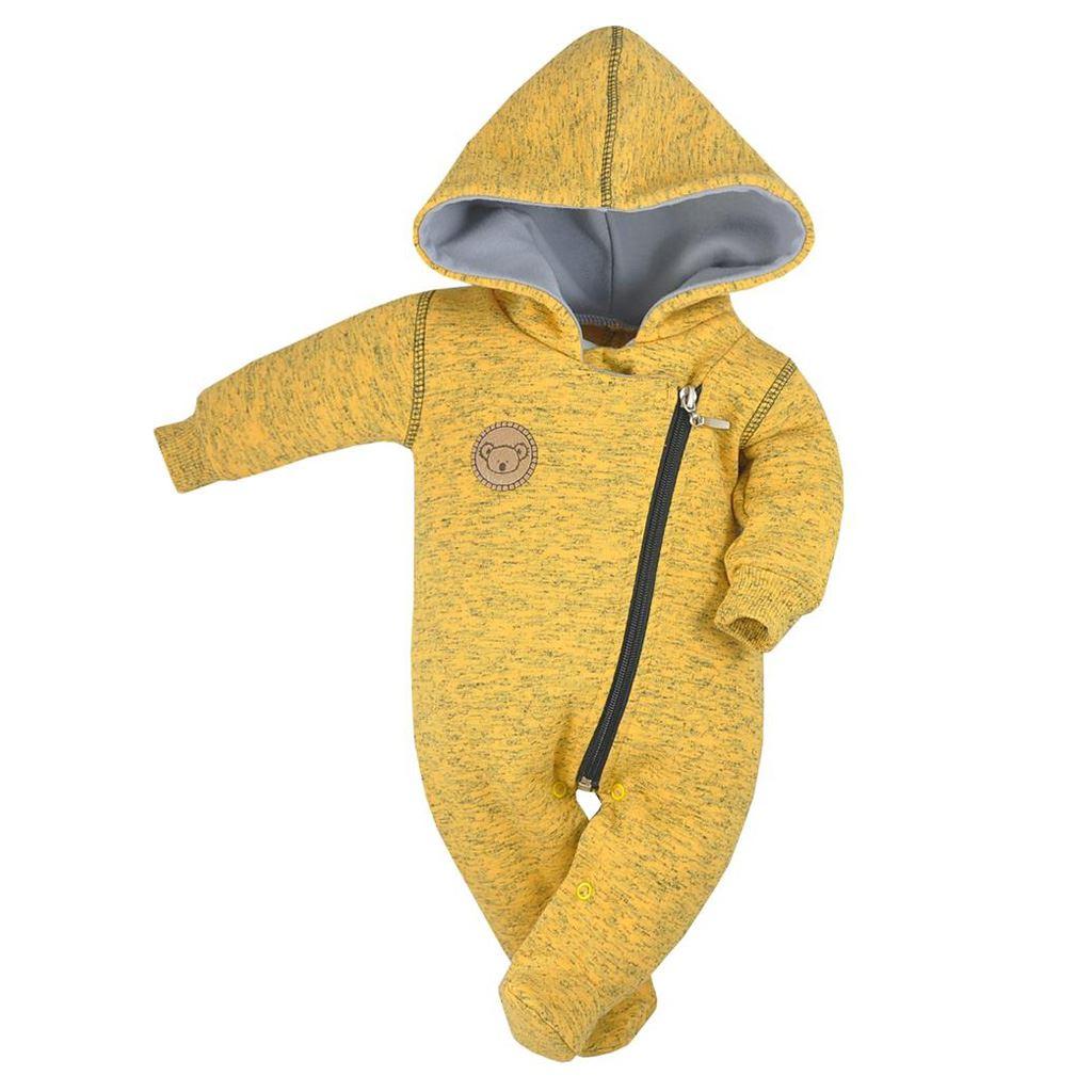 Dojčenský overal Koala Koala melírovaná žltá