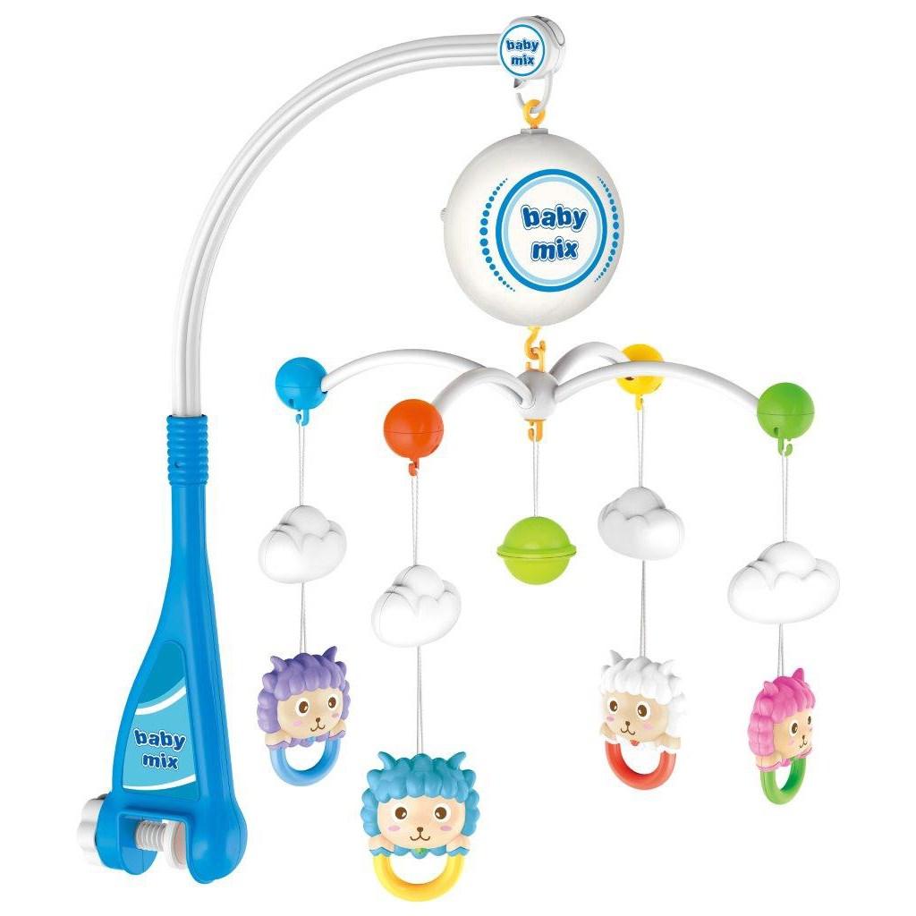 Elektrický kolotoč nad postieľku Baby Mix ovečky