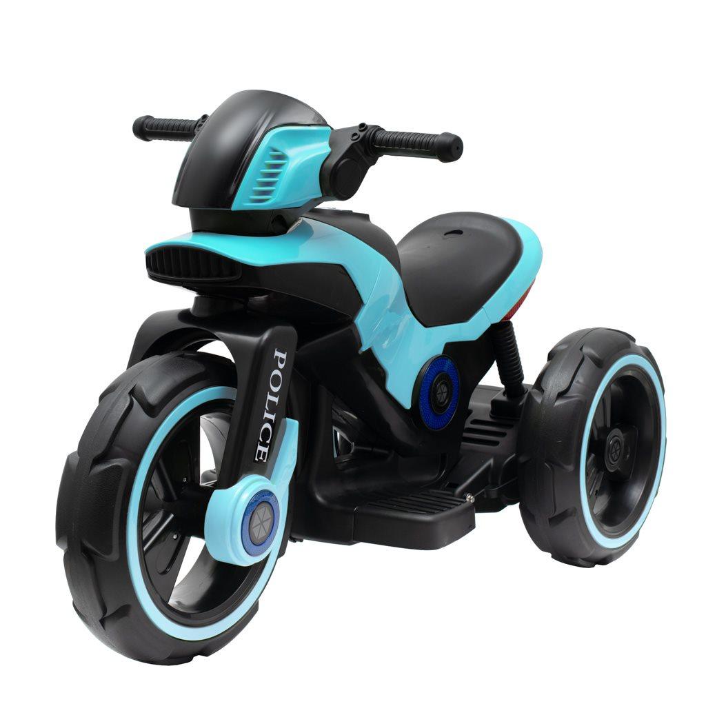 Detská elektrická motorka Baby Mix POLICE modrá