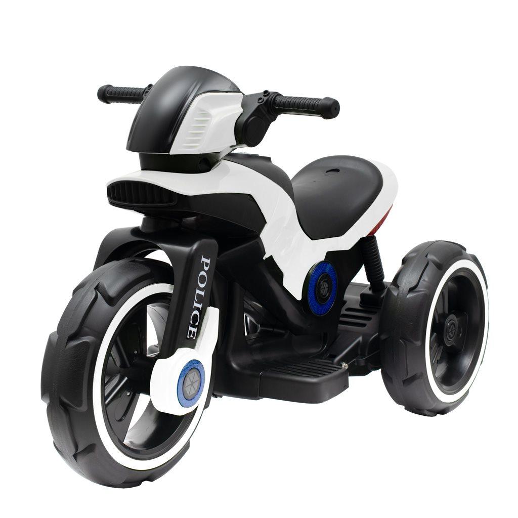 Detská elektrická motorka Baby Mix POLICE biela