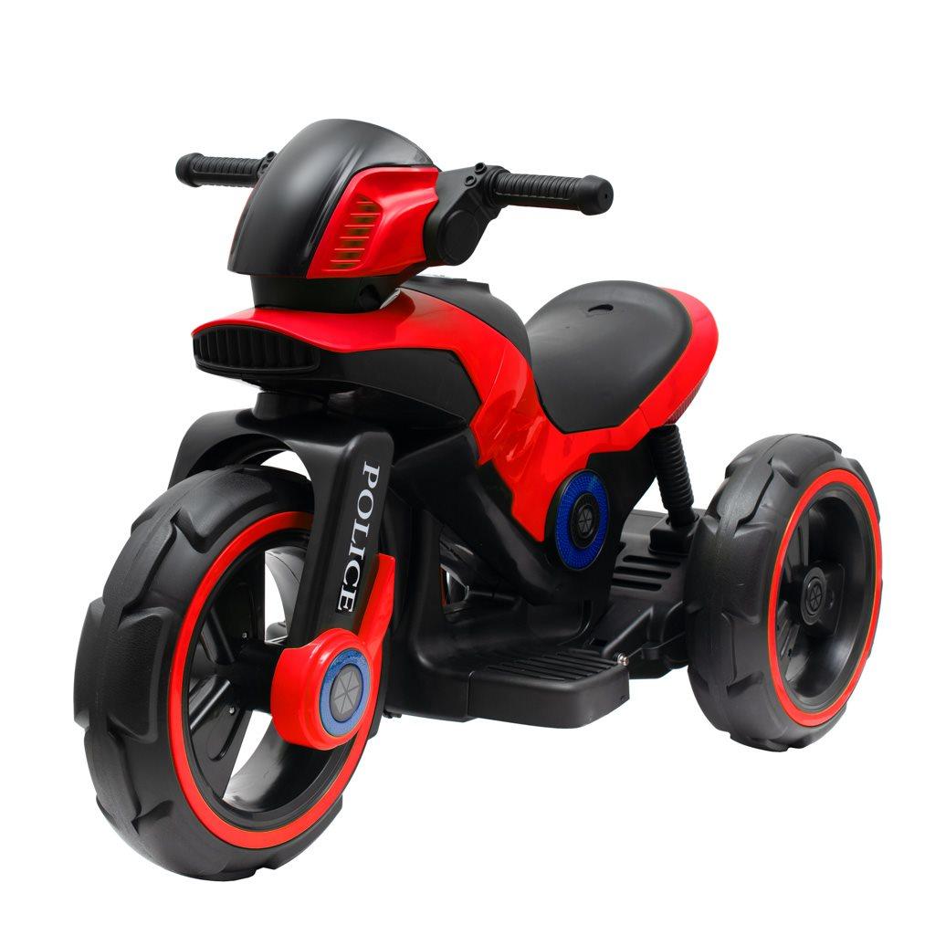 Detská elektrická motorka Baby Mix POLICE červená