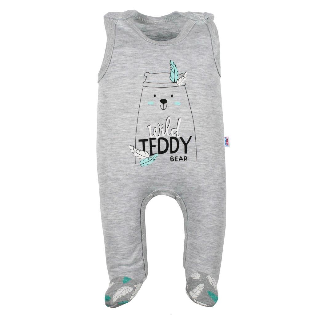 Dojčenské bavlnené dupačky New Baby Wild Teddy-68 (4-6m)