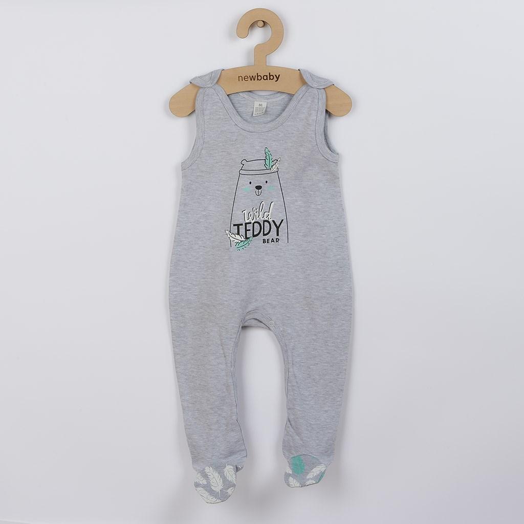 Dojčenské bavlnené dupačky New Baby Wild Teddy-74 (6-9m)