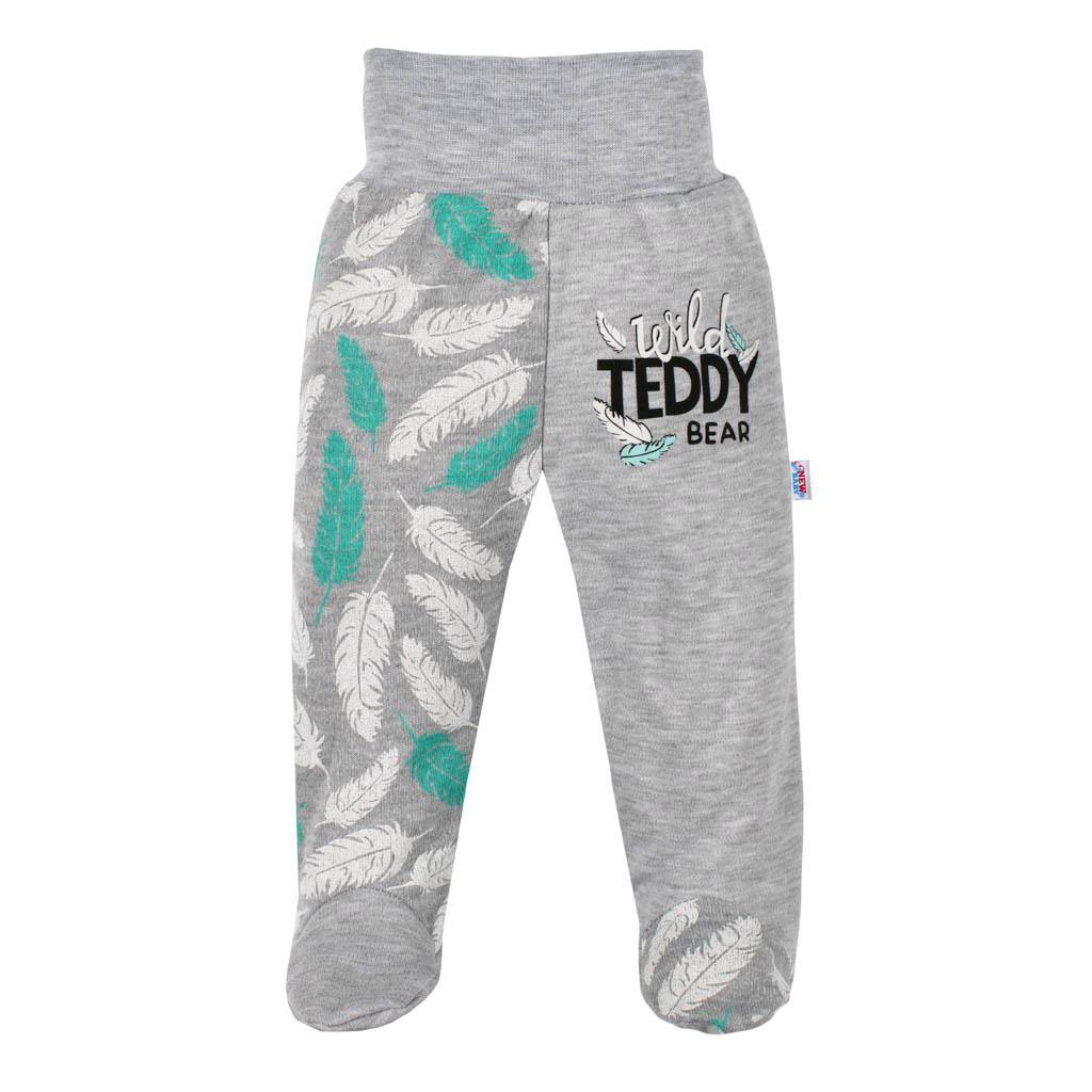 Dojčenské bavlnené polodupačky New Baby Wild Teddy-68 (4-6m)