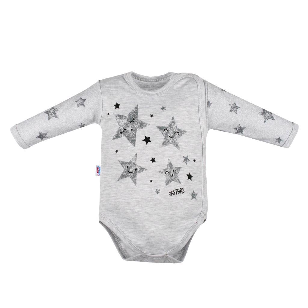 Dojčenské body s bočným zapínamím New Baby Stars-56 (0-3m)