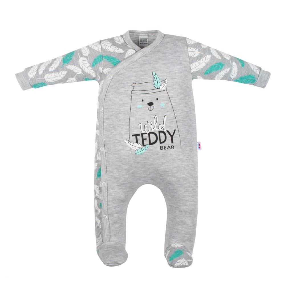 Dojčenský bavlnený overal New Baby Wild Teddy-80 (9-12m)