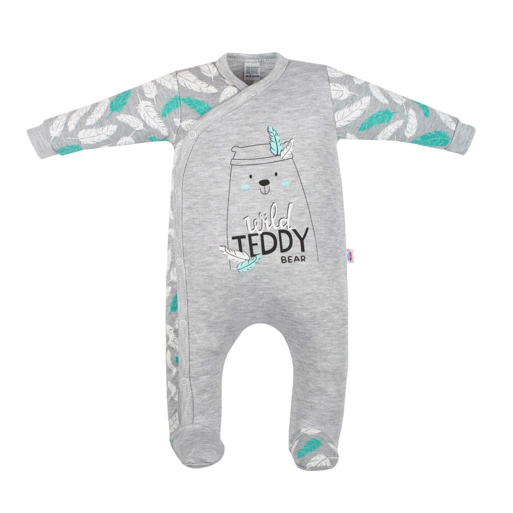 Dojčenský bavlnený overal New Baby Wild Teddy-86 (12-18m)