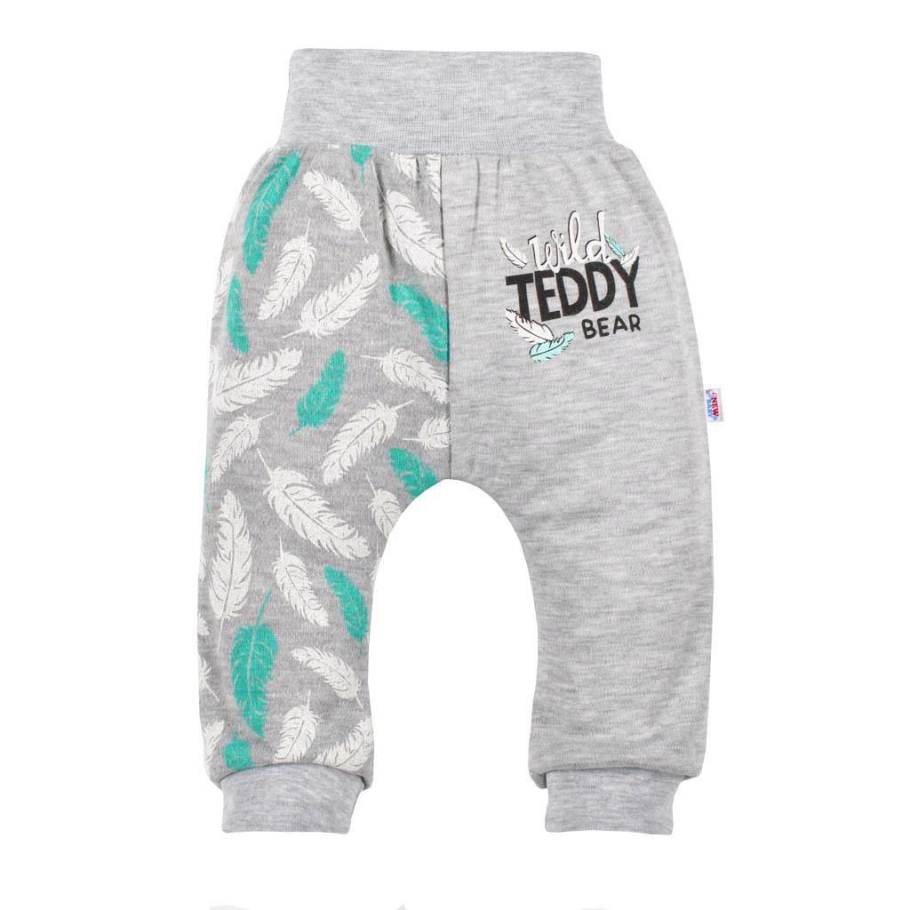 Dojčenské bavlnené tepláčky New Baby Wild Teddy Veľkosť: 80 (9-12m)