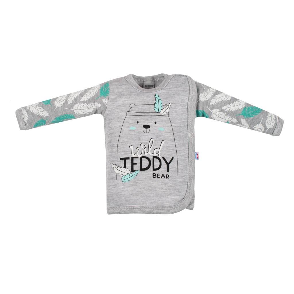 Dojčenská bavlnená košieľka New Baby Wild Teddy
