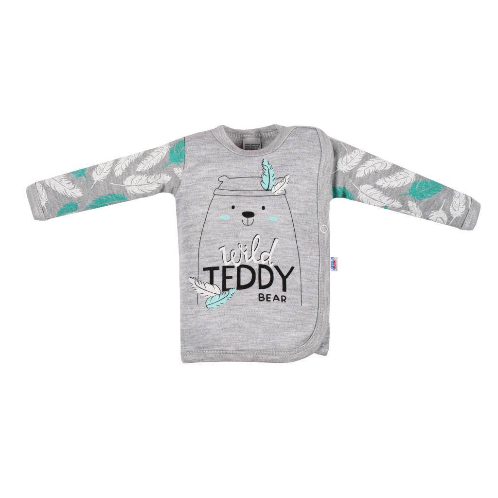 Dojčenská bavlnená košieľka New Baby Wild Teddy-62 (3-6m)