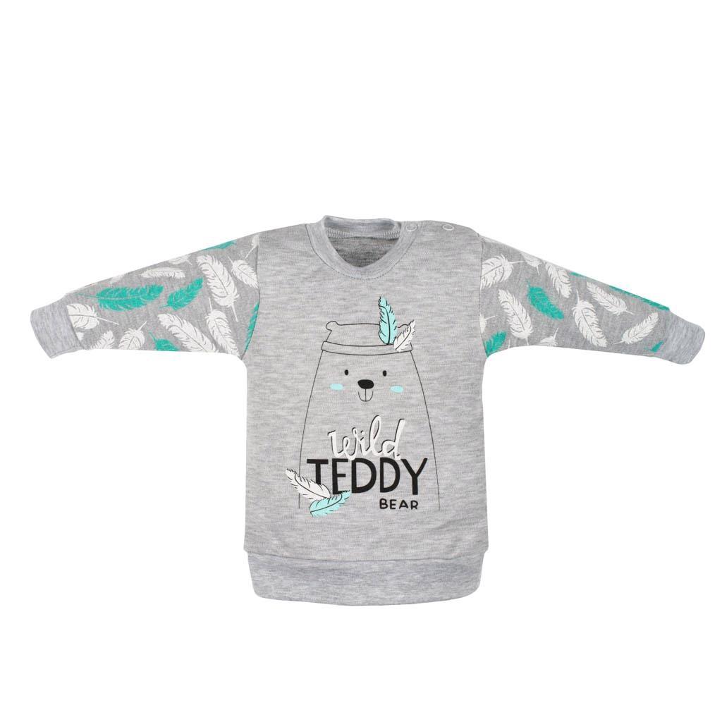 Dojčenská bavlnená mikinka New Baby Wild Teddy-80 (9-12m)