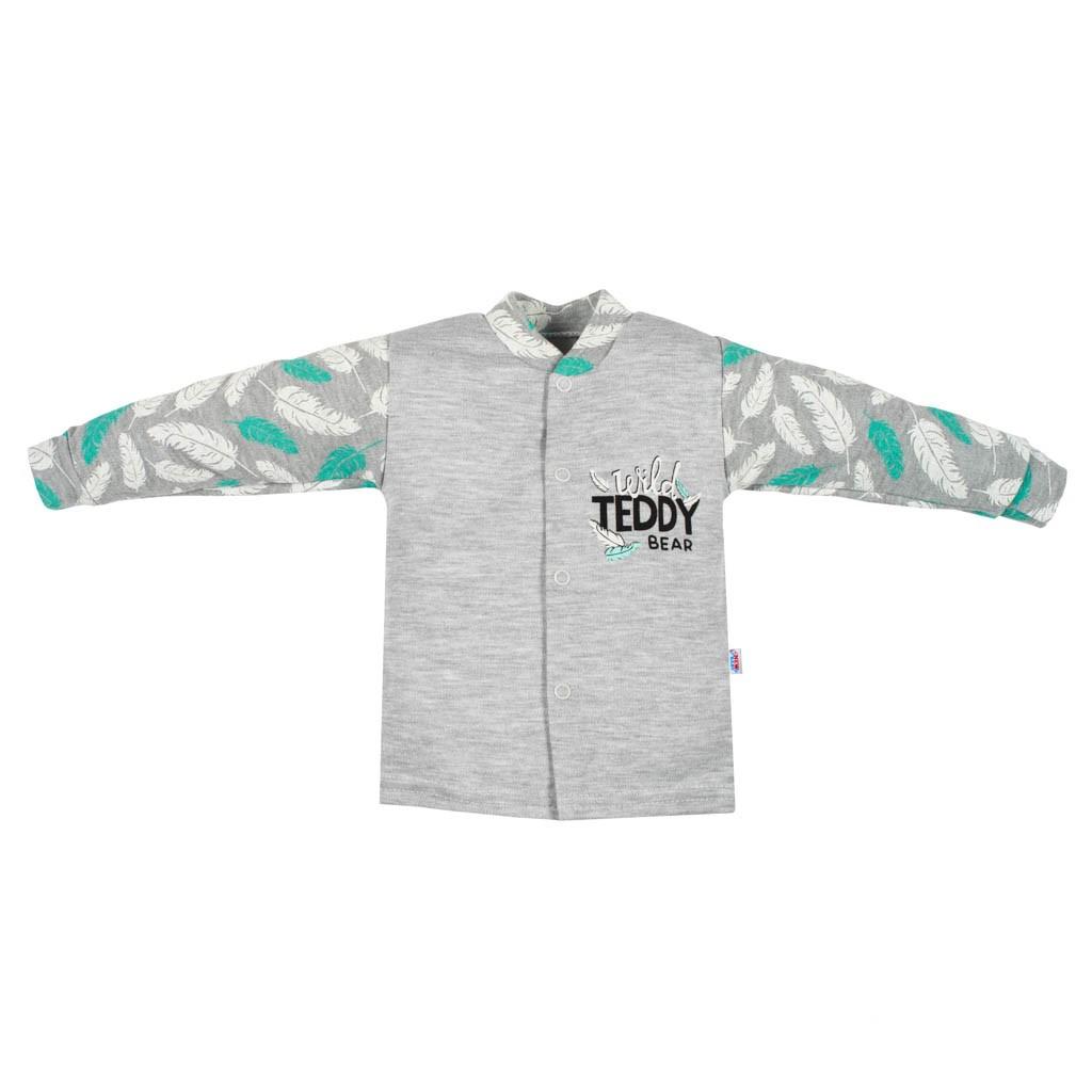 Dojčenský bavlnený kabátik New Baby Wild Teddy-68 (4-6m)