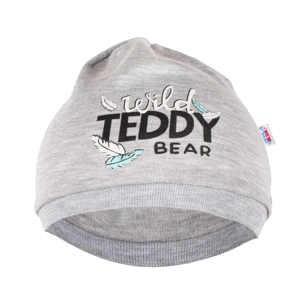 Dojčenská bavlnená čiapočka New Baby Wild Teddy-68/74