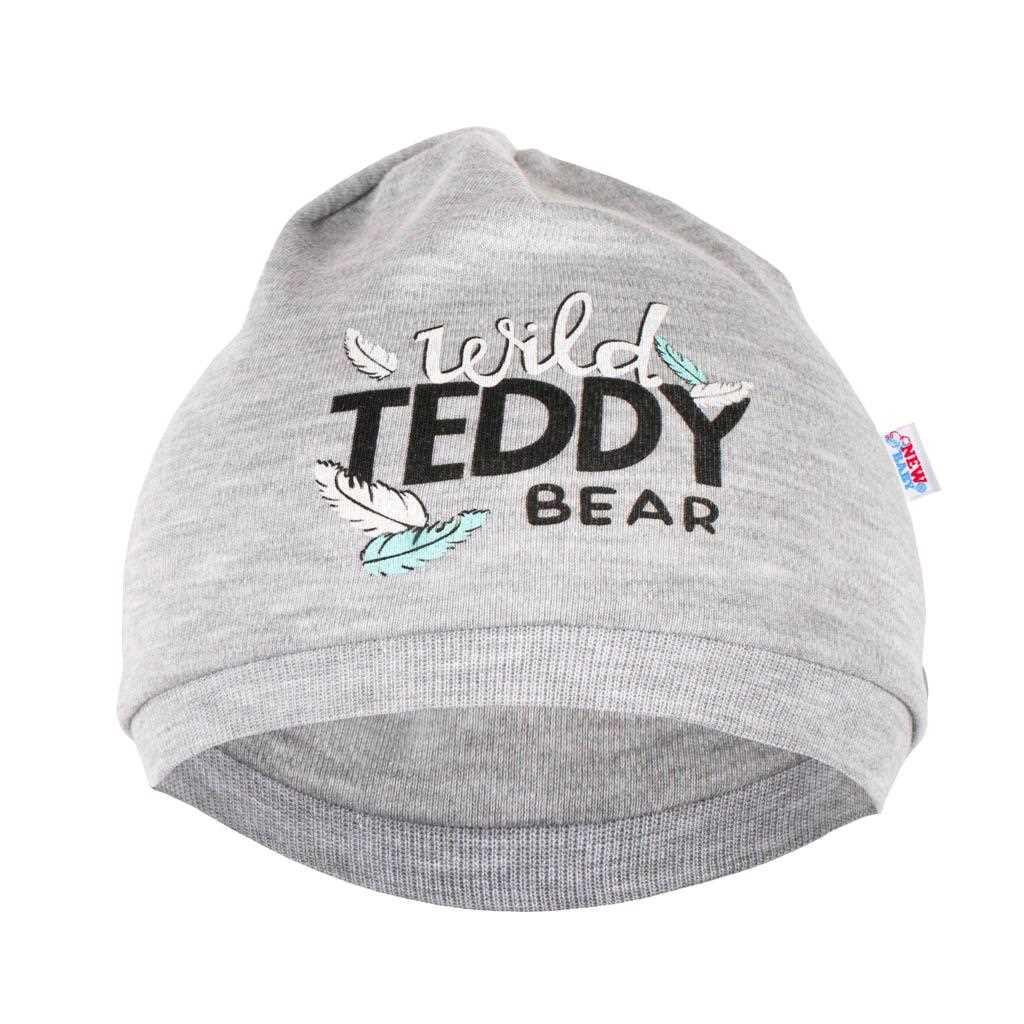 Dojčenská bavlnená čiapočka New Baby Wild Teddy-80/86