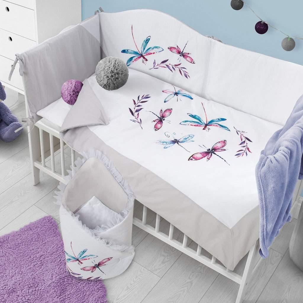 3-dielne posteľné obliečky Belisima Vážky 90/120