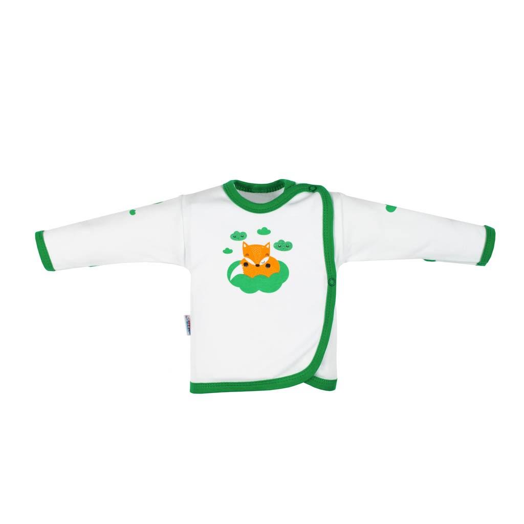 Dojčenská bavlnená košieľka New Baby Líška zelená