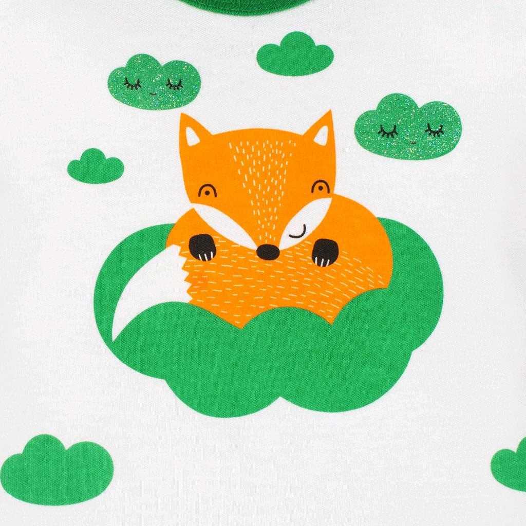 Dojčenské bavlnené polodupačky New Baby Líška zelená