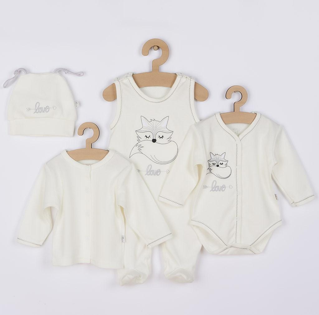 4-dielna dojčenská súprava Koala Fox Love smotanová 62 (3-6m)