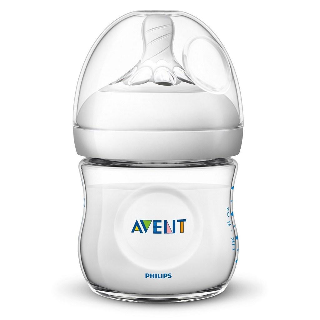 Dojčenská fľaša Avent Natural transparentná 125 ml